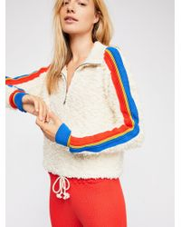 Free People - Marshmallow Striped Pullover - Lyst