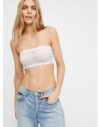Free People - Seamless And Lace Reversible Bandeau By Intimately - Lyst