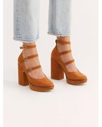 Free People - Suede Perfect Pair Platform By Fp Collection - Lyst