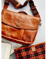 Free People - Kent Leather Messenger - Lyst