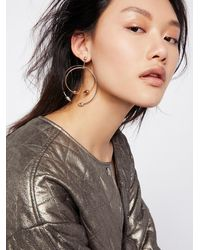 Free People - Philo Double Piercing Hoops - Lyst