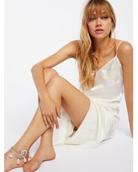 Free People - Tiger Coin Pearl Drape Anklet - Lyst