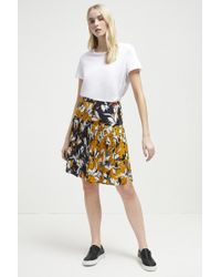 French Connection - Aventine Drape Pleated Skirt - Lyst