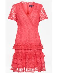 French Connection - Arta Lace Ruffle Dress - Lyst