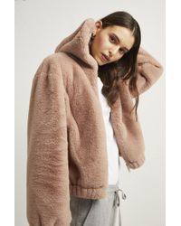 French Connection - Arabella Faux Fur Hooded Jacket - Lyst
