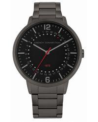 French Connection - Gunmetal Bracelet Watch - Lyst