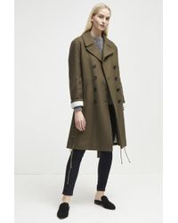 French Connection - Wool Melton Peacoat - Lyst