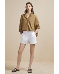 French Connection - Collman Cotton Pleat Front Shorts - Lyst