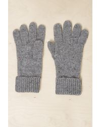 French Connection - Speckle Knitted Gloves - Lyst