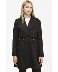 French Connection - Runaway Wool Drawstring Detail Coat - Lyst