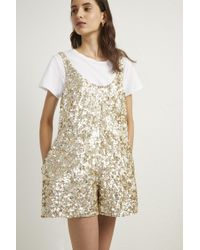 French Connection - Dia Shine Playsuit - Lyst