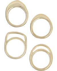 French Connection - Natural Cut Ring Set - Lyst