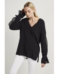 French Connection - Caballo Lace Knit Jumper - Lyst