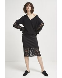 French Connection - Delos Lucky Layer Pencil Skirt - Lyst