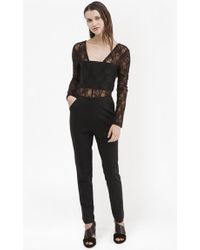 French Connection | Lace Diana Jersey Jumpsuit | Lyst