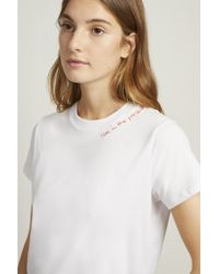 French Connection - Live In The Present Slogan T-shirt - Lyst