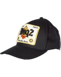 DSquared² - Patch Detail Baseball Cap - Lyst bcf3e9275087