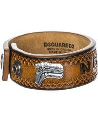 DSquared² - Bracciale braccialetto uomo in pelle hippie cowboy rodeo boy - Lyst