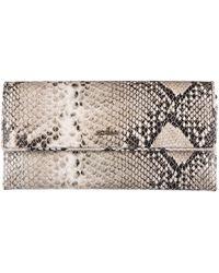 Hogan - Wallet Genuine Leather Coin Case Holder Purse Card Beige - Lyst