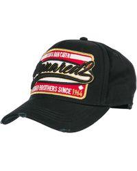 c57995138bdc00 DSquared² No Regrets Cotton Baseball Hat in Black for Men - Lyst
