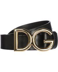 Dolce & Gabbana - Cintura uomo vera pelle - Lyst
