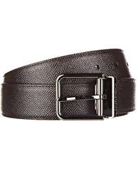 Dolce & Gabbana - Cintura uomo vera pelle dauphine - Lyst