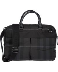 Burberry - London Check Laptop Bag - Lyst