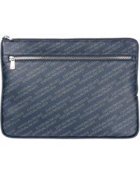 Emporio Armani - Travel Document Case Holder Pc Laptop Notebook - Lyst