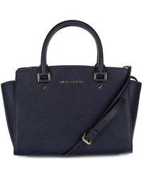 Michael Kors - Leather Handbag Shopping Bag Purse Selma - Lyst