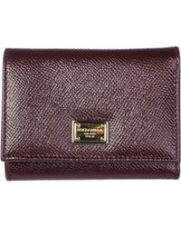 Dolce & Gabbana - Portafoglio donna pelle trifold - Lyst