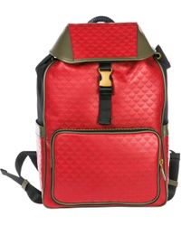 Emporio Armani - Leather Rucksack Backpack Travel - Lyst