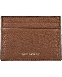 Burberry - Genuine Leather Credit Card Case Holder Wallet Sandon - Lyst