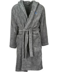 Derek Rose Towelling Bathrobe in White for Men - Lyst f0188c5be
