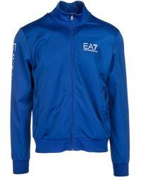 EA7 - Sweatshirt With Zip Sweat - Lyst