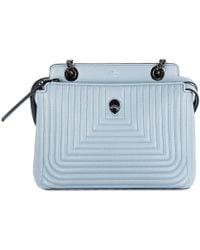 63a461f71e83 Lyst - Fendi Dotcom Leather Shoulder Bag in Black