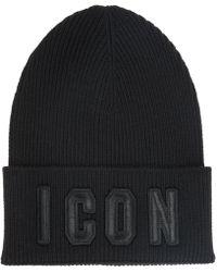 DSquared² - Cuffia berretto uomo in lana icon - Lyst