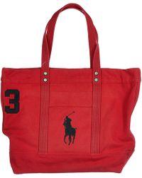 Polo Ralph Lauren - Bag Handbag Shopping Tote Canvas - Lyst
