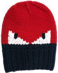 Fendi - Wool Beanie Hat Monster Eyes - Lyst