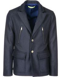 Versace Jeans - Coat Overcoat In Lana - Lyst