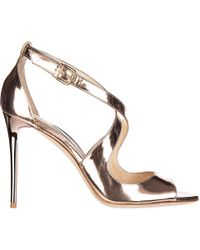 Jimmy Choo - Leather Heel Sandals Emily - Lyst