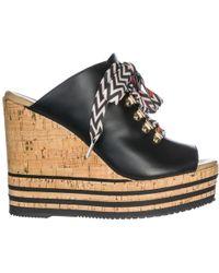 Hogan - Leather Shoes Wedges Sandals H361 - Lyst