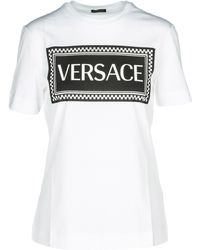 Versace - T-shirt Short Sleeve Crew Neck Round - Lyst