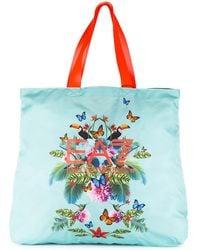 EA7 - Nylon Handbag Shopping Bag Purse Beach Printed - Lyst
