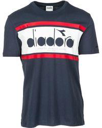 Diadora - Short Sleeve T-shirt Crew Neckline Jumper - Lyst