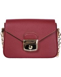 Longchamp - Leather Cross-body Messenger Shoulder Bag - Lyst