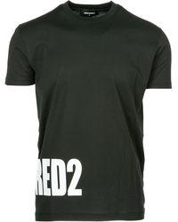 DSquared² - T-shirt maglia maniche corte girocollo uomo - Lyst