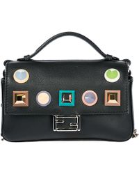 Fendi - Leather Cross-body Messenger Shoulder Bag Double Micro Baguette - Lyst