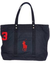 Polo Ralph Lauren - Bag Handbag Shopping Tote Canvas Aviator - Lyst