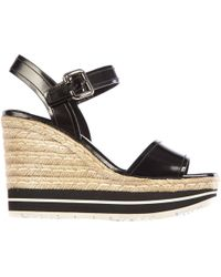 Prada - Leather Shoes Wedges Sandals Corda - Lyst