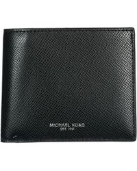 Michael Kors - Genuine Leather Wallet Credit Card Bifold Bifold Harrison - Lyst